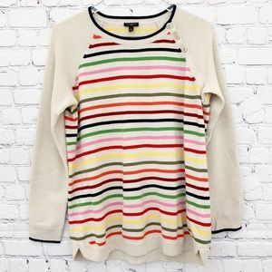 Talbots - Multicolor Stripe Sweater Top, Size X